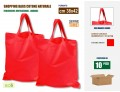 N.° 10 pezzi - SHOPPING BAGS, SHOPPERS IN COTONE DI COLORE ROSSO CM 38x42