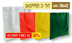 Borse Shopping Bags in Tessuto - SHOPPERS DI TNT CM 38x42