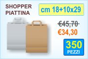 Buste shopper in carta con manico piattina