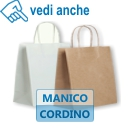 Shopper carta manico cordino